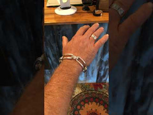 Cool Mens Bracelets | Rocker Vibe | Mens Jewelry by Backyard Silversmiths