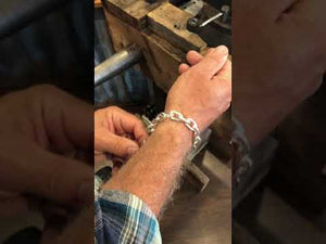 Mens Silver Cable Chain Bracelets | Mens Jewelry by Backyard Silversmiths