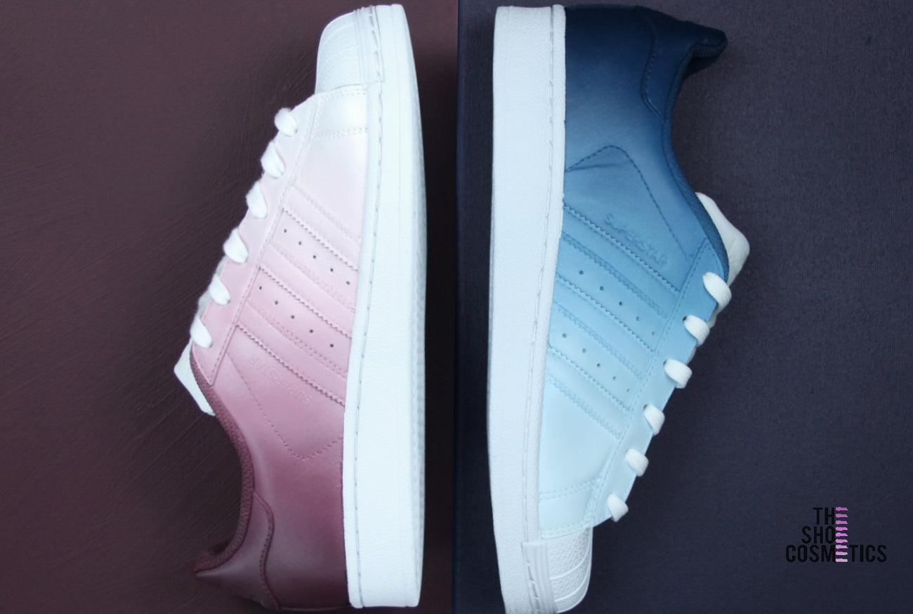 Hand Painted, Ombre Design Adidas Original superstar Womens Custom Sneaker