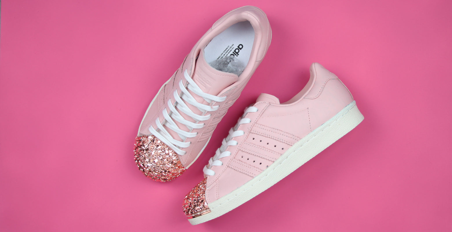 TheShoeCosmetics Hand Painted Pink Adidas Superstar Custom Sneakers