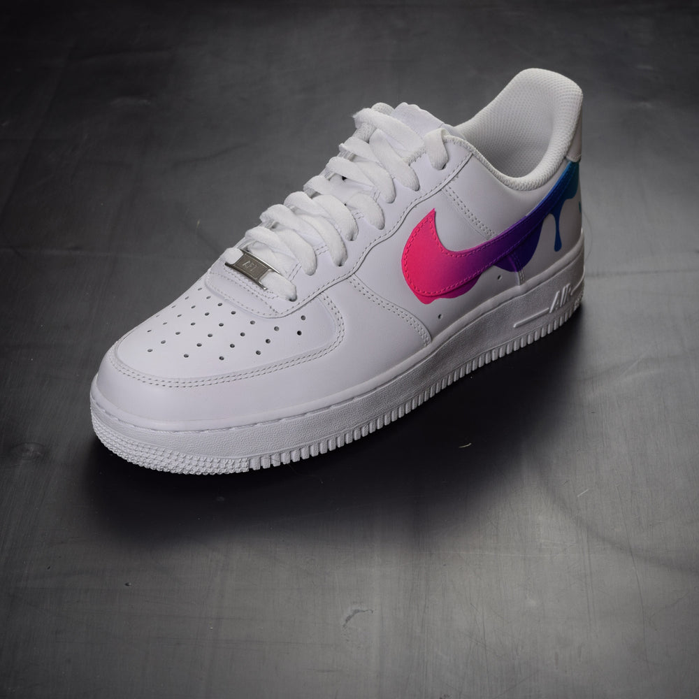 huge selection of fb430 a900e NIKE AIR FORCE 1 PAINT DRIP CUSTOM SHOES