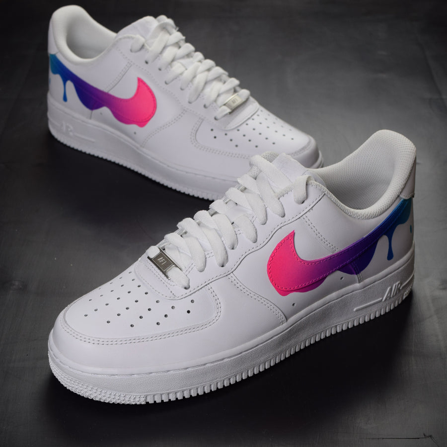 NIKE AIR FORCE 1 PAINT DRIP CUSTOM SHOES