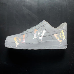 3m Reflective Butterfly Nike Air Force 1 Custom Sneakers