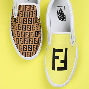 Fendi Vans Slip On Custom Sneakers