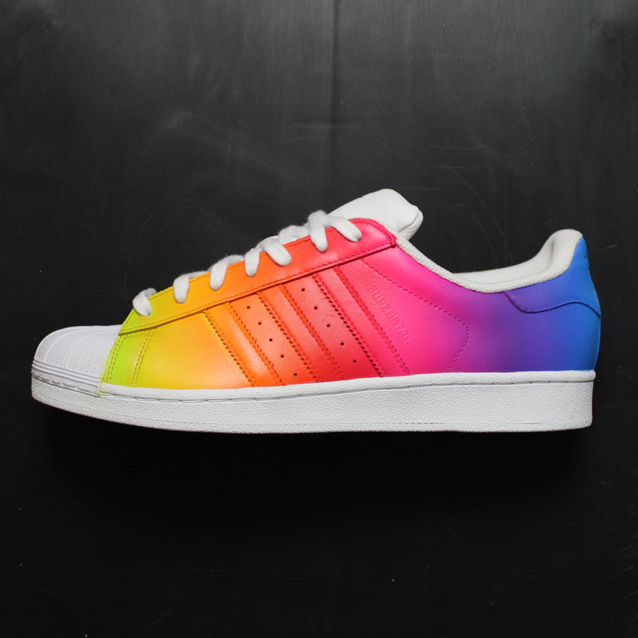 Rainbow Adidas Superstar Custom Sneakers