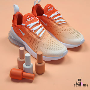TheShoeCosmetics - Custom Ombre Air Max 270 Orange Nike Shoes