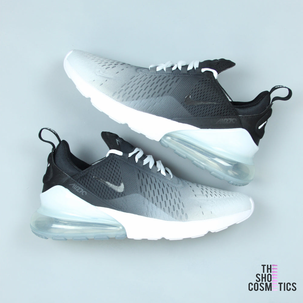 6f19ef21e355 Custom Nike Air Max Black And White Ombre 270 s – TheShoeCosmetics