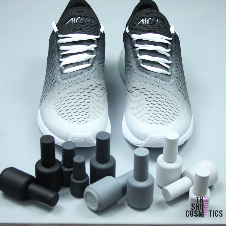 TheShoeCosmetics - Custom Nike Air Max Black And White Ombre 270's