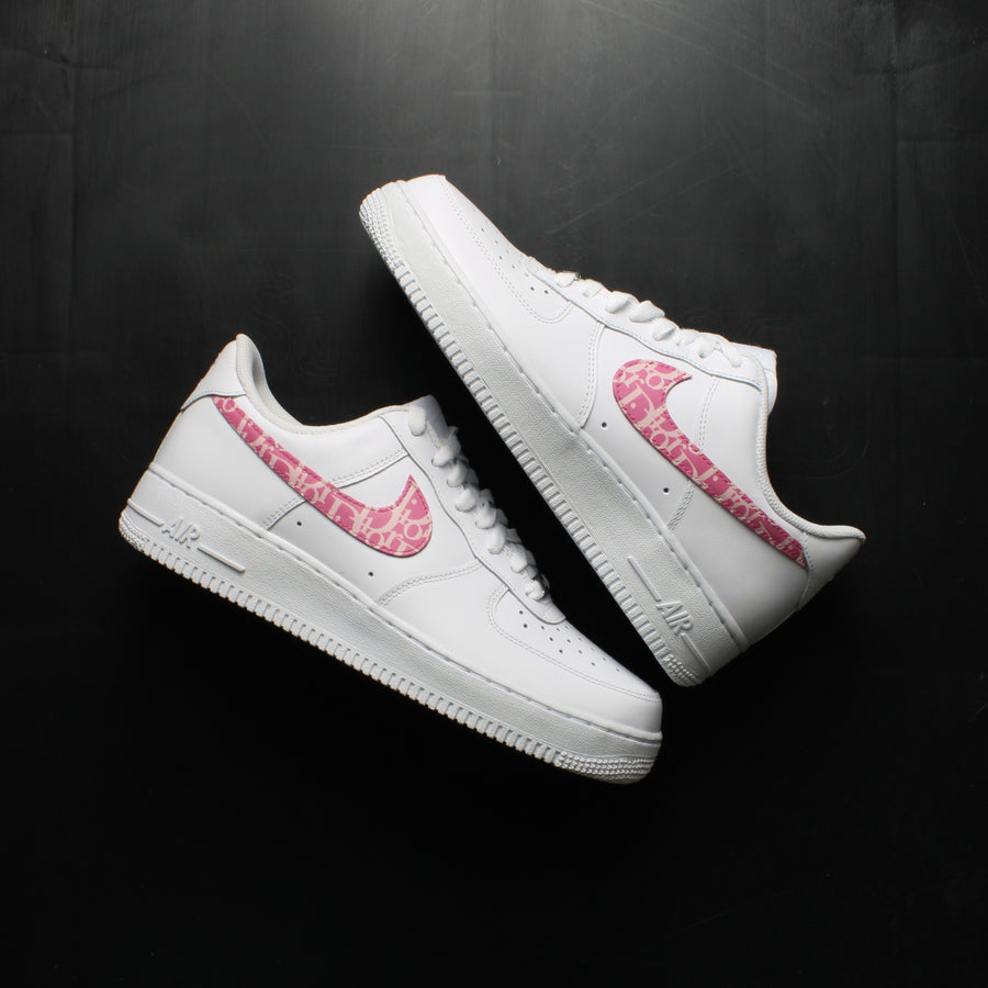 Pink Dior Air Force 1 Custom Sneakers