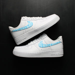 Blue Dior Nike Air Force One Custom Sneakers