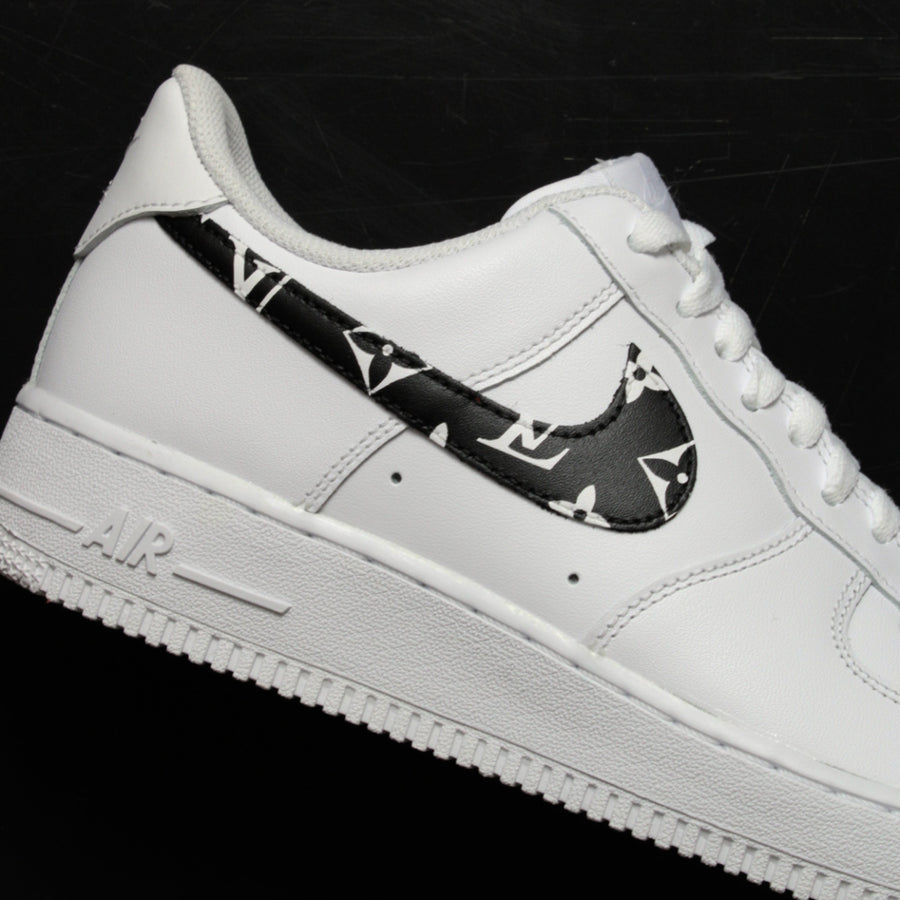 Custom black air force 1| Louis vuitton air force 1