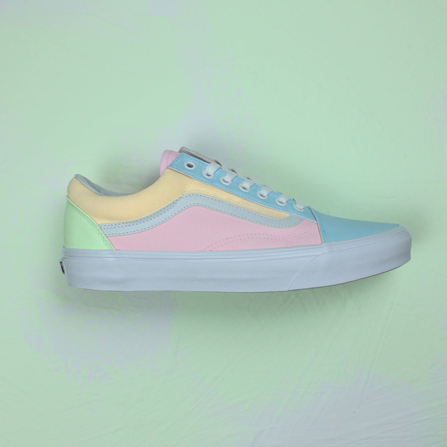 TheShoeCosmetics - Pastel Multi Colored Vans Old Skool Custom Sneakers