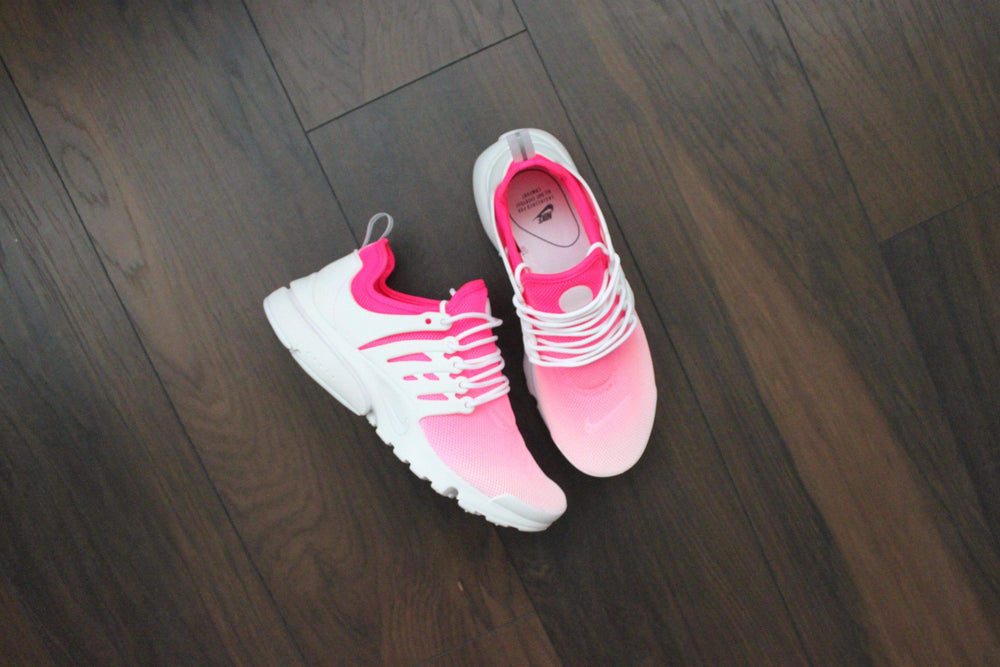 quality design 465f6 ec0b3 ... TheShoeCosmetics - Nike Presto Pink Custom Sneakers - Ombre Design   Looking for Maroon Nike shoes ...