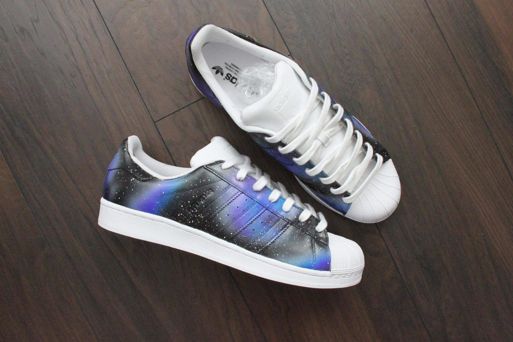 01e3850c04ff Adidas Superstar Custom Galaxy Sneakers – TheShoeCosmetics