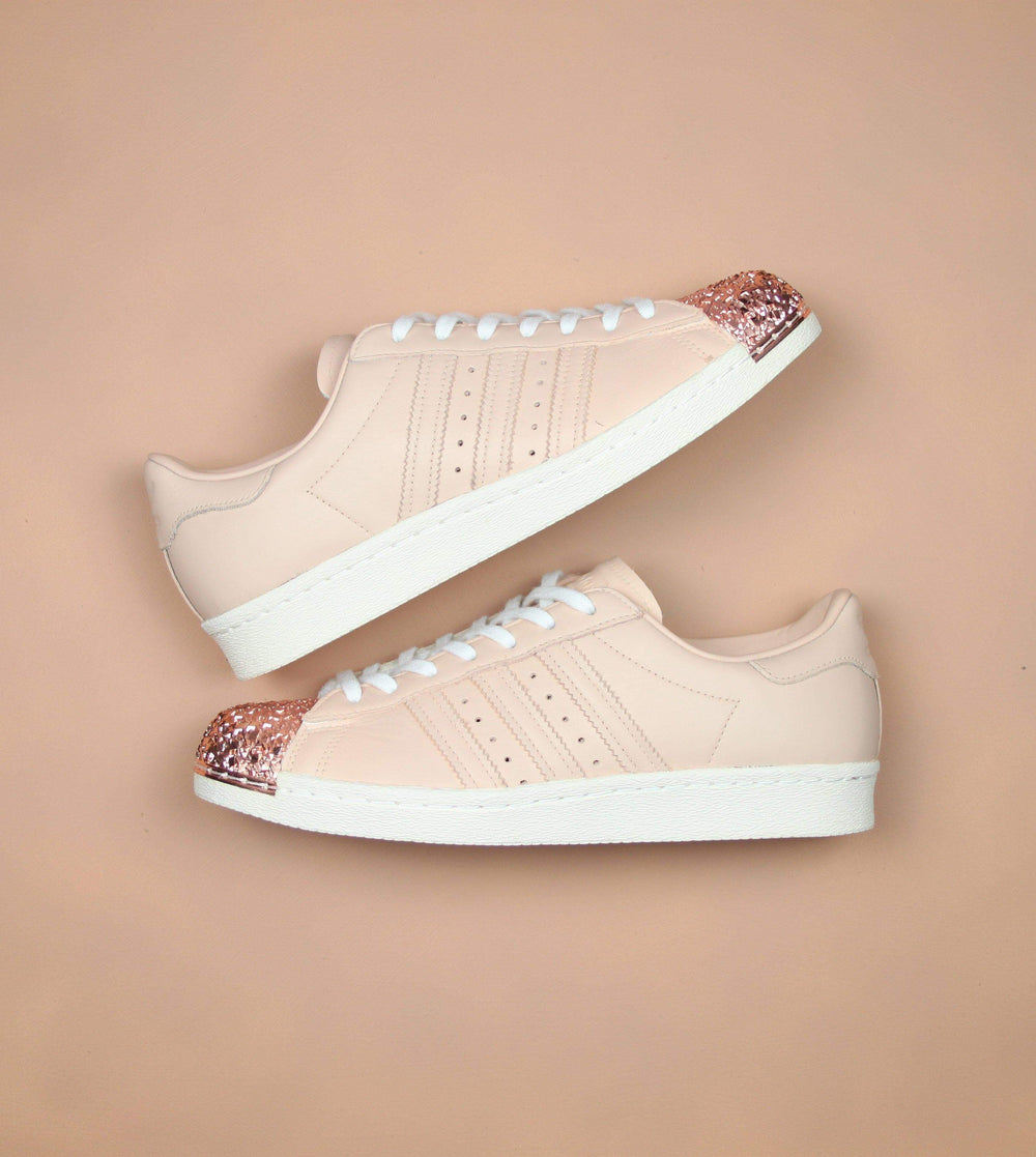 860ac1f37cae TheShoeCosmetics - Nude Adidas Superstar Rose Gold Shell Toe Custom Sneakers