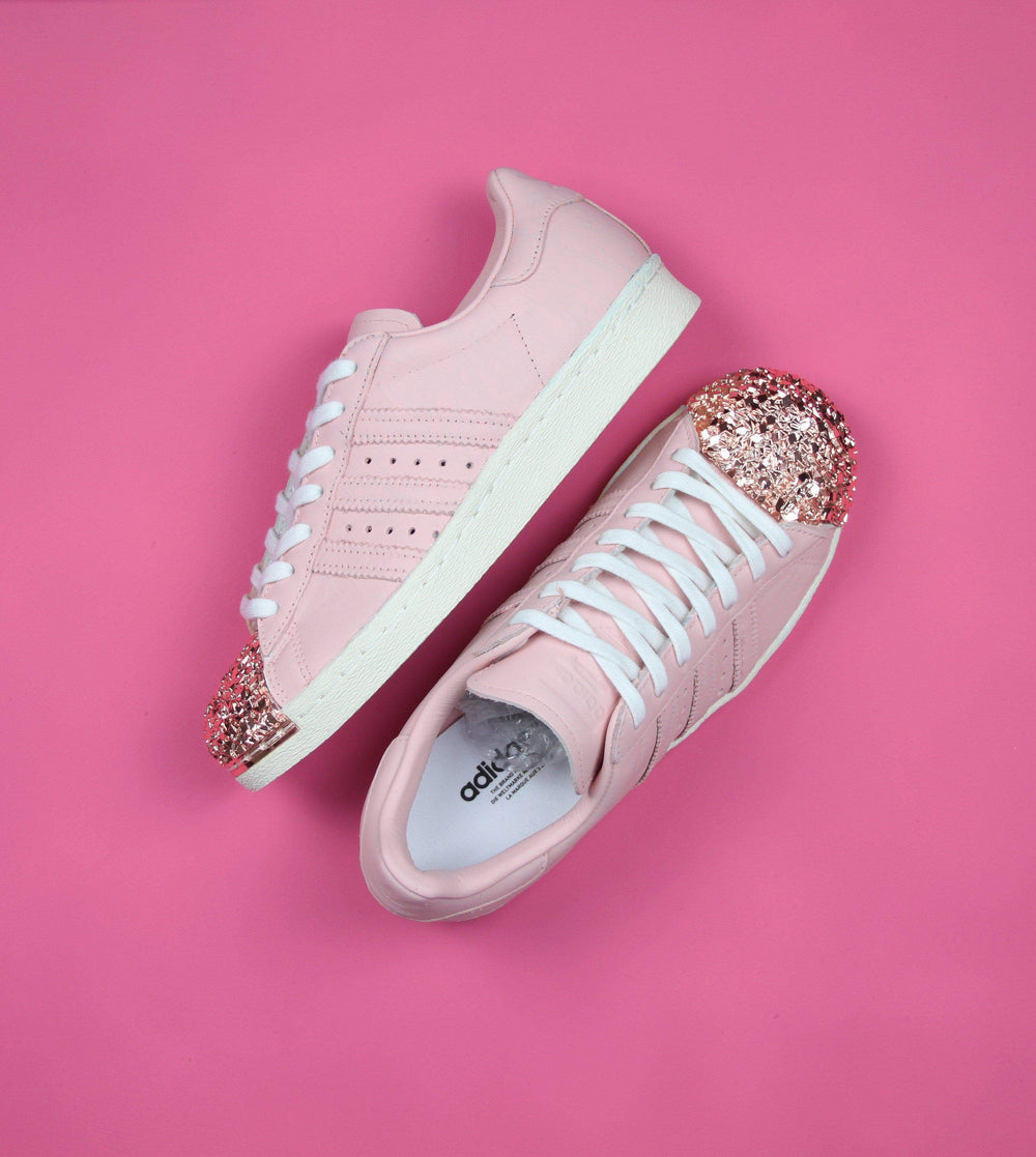 3739bd8f10 Light Pink Adidas Superstar Rose Gold Shell Toe Custom Shoes ...