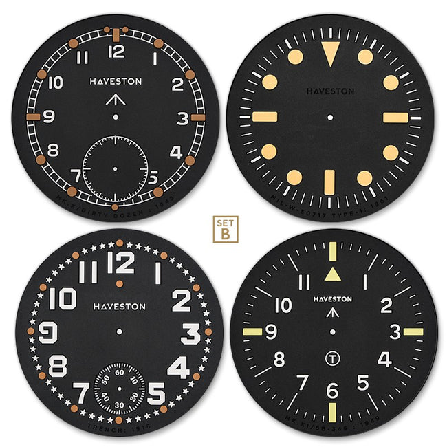 Haveston Service Dial Coaster x4 (Set B)