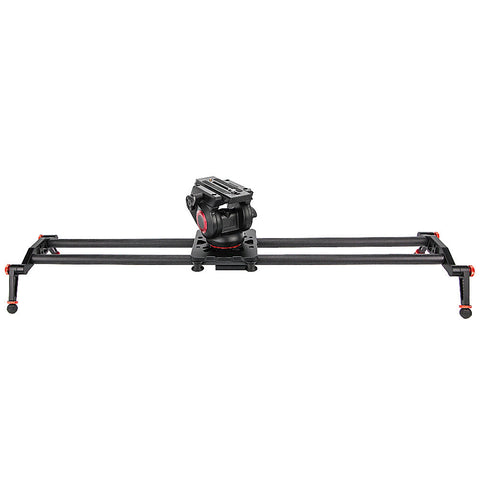 Digicarbon - Carbon Fiber Camera Slider w/ Fluid Drag Head - Carbon Fiber Gear - Digicarbon