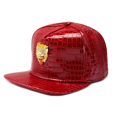 Digiwear - Crowned Lion Python Snapback Hat - Carbon Fiber Gear - Digicarbon