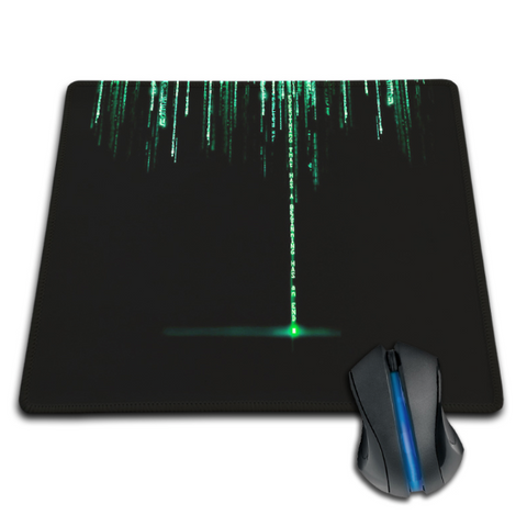 Digitech - Cyber Ninja Mouse Pad - Matrix Style Surface Pad - Carbon Fiber Gear - Digicarbon