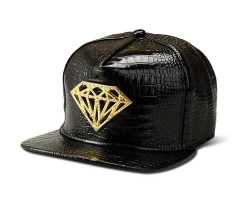 Digiwear - Carbon Diamond - Flat Bill Python Style Snapback Hat - Carbon Fiber Gear - Digicarbon