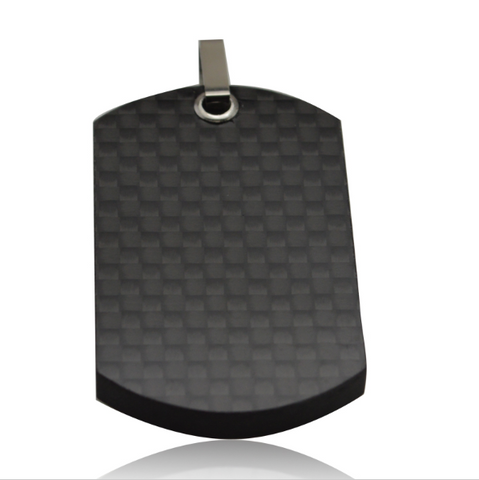 Digicarbon - 100% Carbon Fiber Pendant Dog Tag w/ Free Ball Chain - Carbon Fiber Gear - Digicarbon