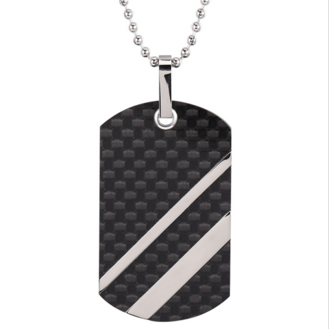 Digicarbon - Carbon Fiber Pendant Tag w/ Free Necklace - Carbon Fiber Gear - Digicarbon