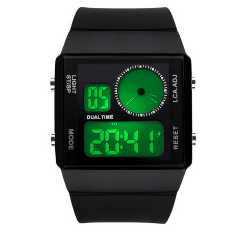 Digiwear - Hi Tech Digital Analog Jedi Watch - Carbon Fiber Gear - Digicarbon