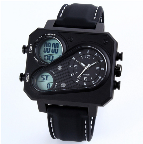 Digiwear - Men's Tactical Analog LED Watch - Carbon Fiber Gear - Digicarbon
