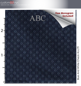 Indigo Blue Mini #cc79,100% Cotton, Men's Monogrammed Custom Tailored Dress Shirt