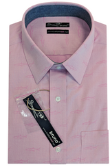 Pink Sharks on Mini Oxford #cc108, 100% Cotton, Men's Monogrammed Custom Tailored Shirt gs