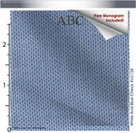 Blue Dots, 100% Cotton, Men's Monogrammed Custom Tailored Shirt (#CC126)