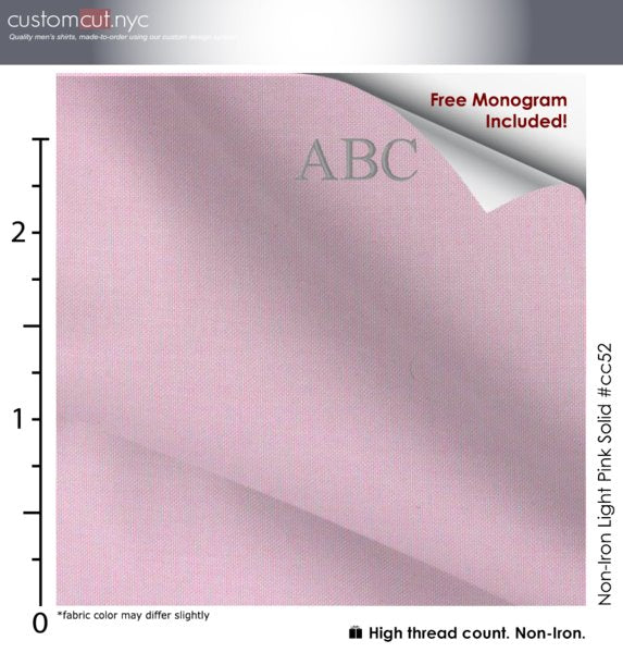 Ale Pink Non Iron Monogrammed Dress Shirt (Item cc52)
