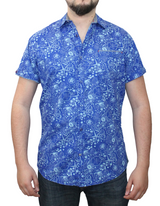 Short Sleeve Printed Button Shirt  (#11482