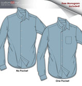 Sky Blue Online Dress Shirt (Item cc49)