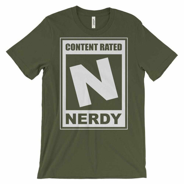 N is for Nerdy Unisex short sleeve t-shirt-Teeopia | T-shirt Utopia