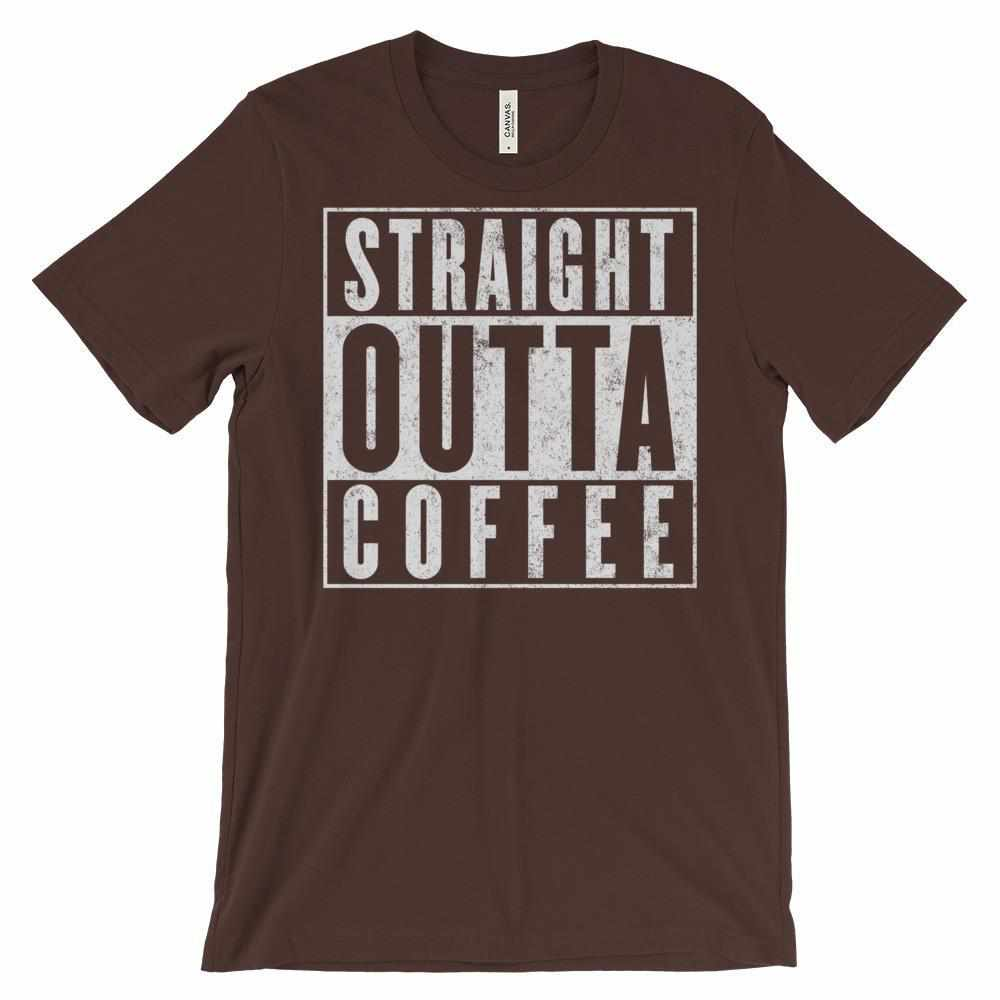 Straight Outta Coffee Unisex short sleeve t-shirt - Teeopia | T-shirt Utopia