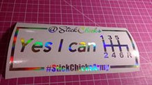 Yes I can! Pride Decal