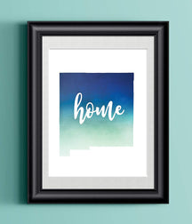 New Mexico Home Watercolor Print | State Home Poster | Wall Decor