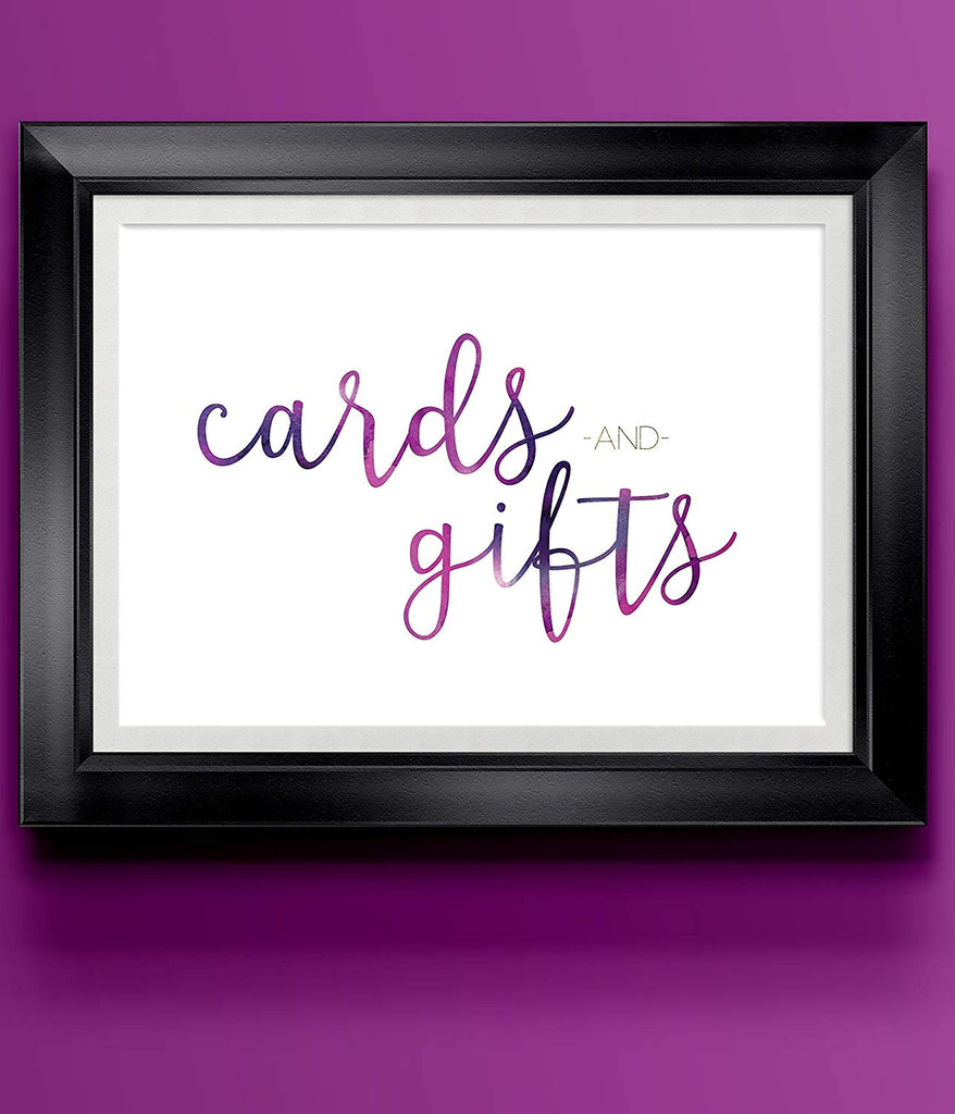 Cards Gifts Purple Modern Wedding Art Print | 8.5 x 11 | Wall Decor