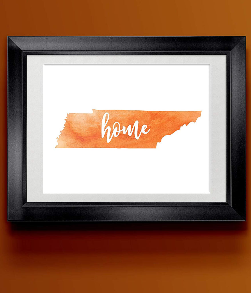 Tennessee Home Watercolor Print | State Home Poster | Wall Decor