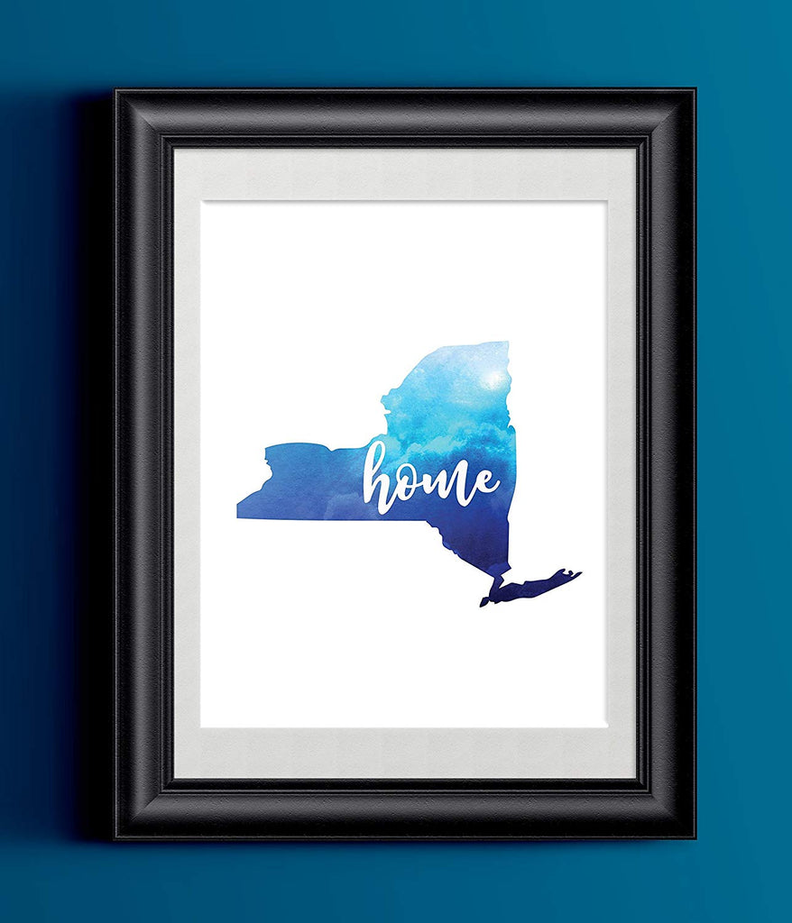 New York Home Watercolor Print | State Home Print | Wall Decor