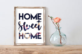 Modern City Bokeh Home Sweet Home Poster | Wall Decor | Art Print