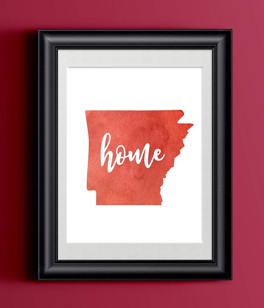 Arkansas Home Watercolor Print | State Home Poster | Wall Decor