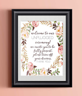 Rustic Wedding Art Print | 8.5 x 11 | Unplugged Wedding Floral | Wedding Decor