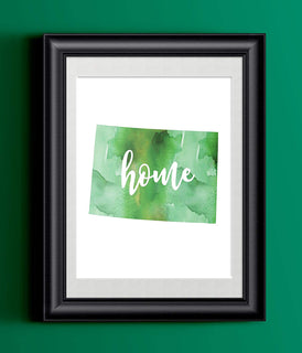 Colorado Home Watercolor Print | State Home Print | Wall Decor