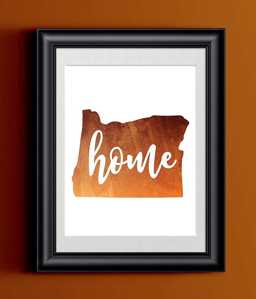 Oregon Home Watercolor Print | State Home Poster | Wall Decor