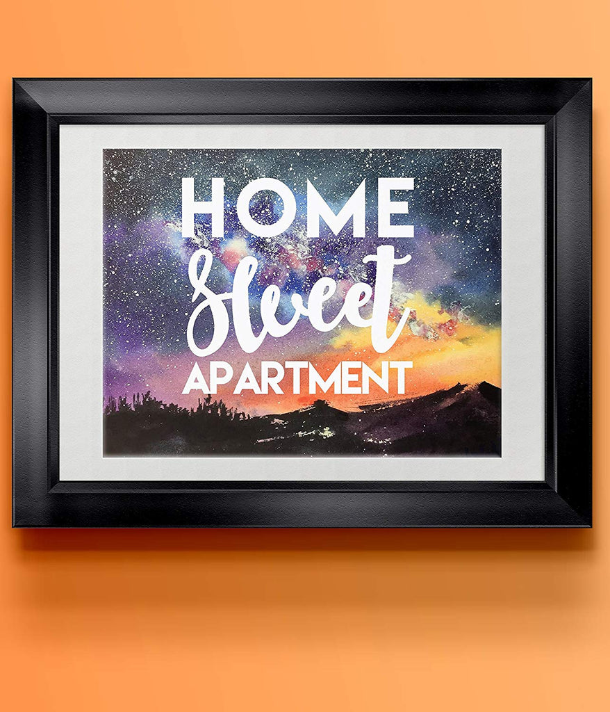 Starry Night Home Sweet Apartment Poster | Wall Decor | Home Print