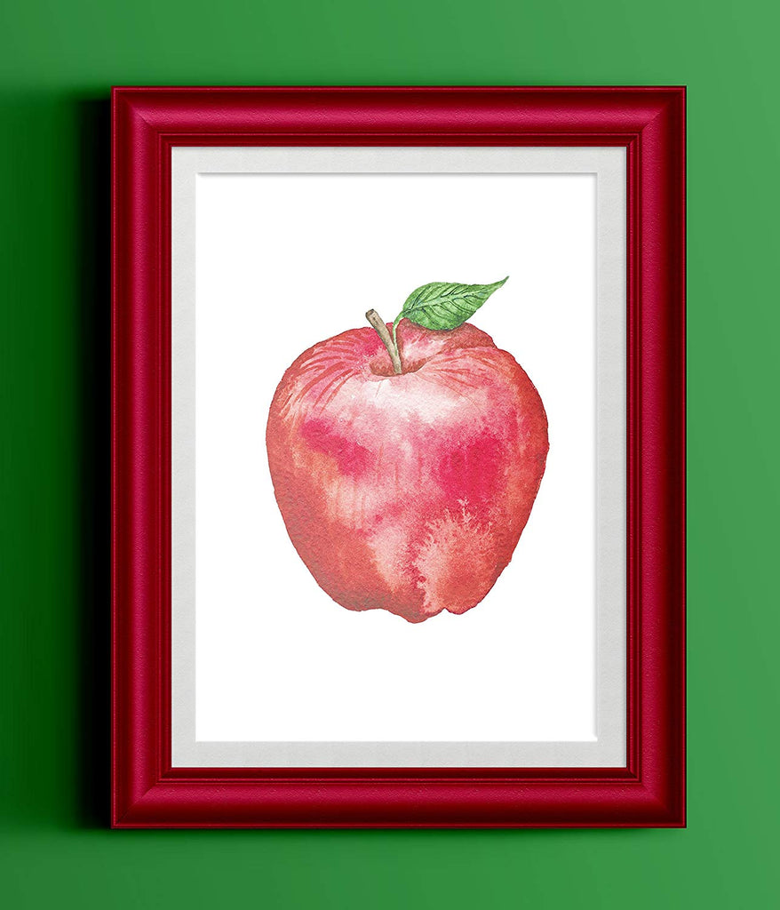 Apple Watercolor Kitchen Print | Home Print | Kitchen Decor