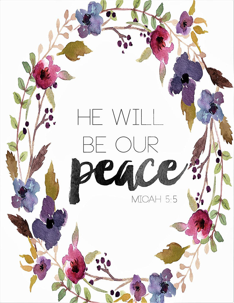 Scripture Home Print | He Will Be Our Peace Art Print